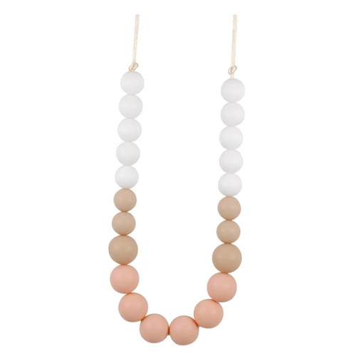 Mom's Teething Necklace, Peach Ombre