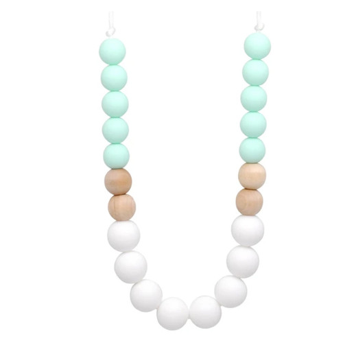 Mom's Teething Necklace, Mint Ombre