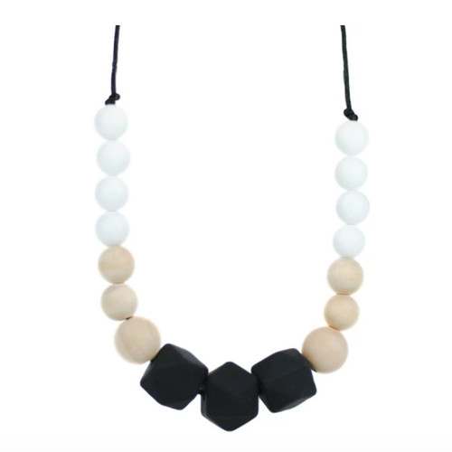 Mom's Geometric Teething Necklace, Neutrals