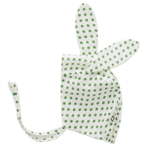 Oeuf Bunny Bonnet, Green Dots