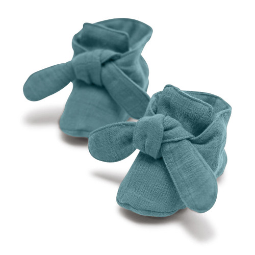 Knotted Booties, Silver Sage