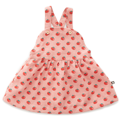 Oeuf Overall Dress, Tomato
