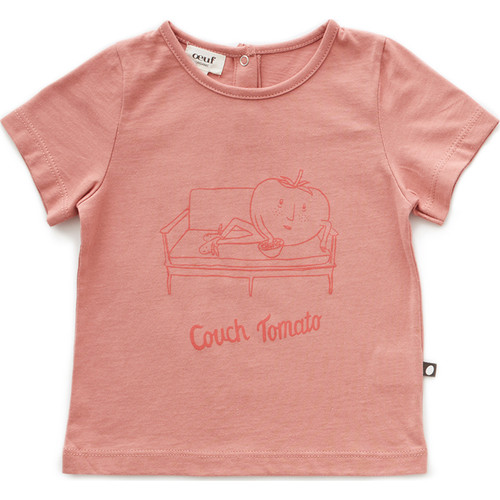 Oeuf Tee Shirt, Rose Couch Tomato