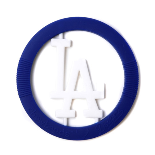 MLB Silicone Teether, Los Angeles Dodgers