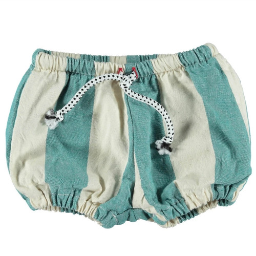 Baby Shorts, Emerald Stripe