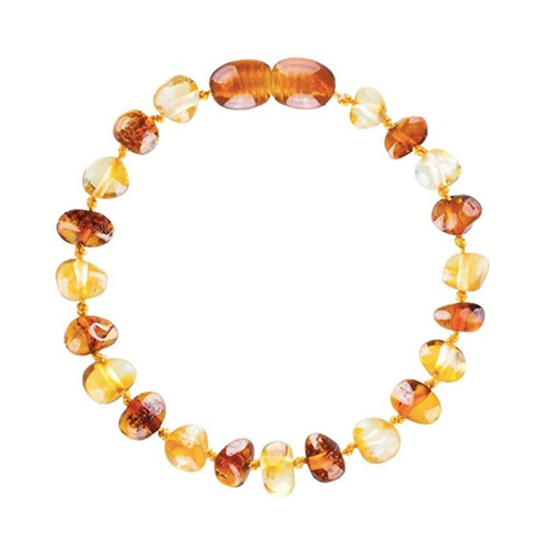 Amber Teething Bracelet, Cognac & Honey