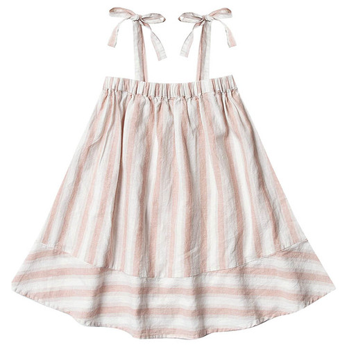 Rylee & Cru Shoulder Tie Dress, Petal Stripe