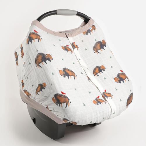 Muslin Car Seat Canopy, Bison