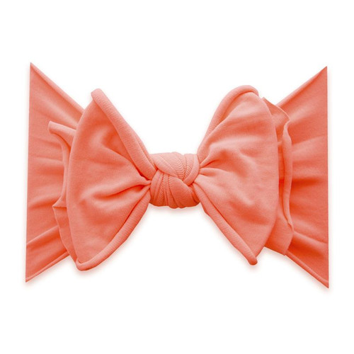 FAB-BOW-LOUS Bow, Neon Coral