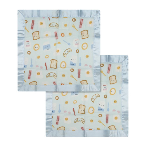 Security Blanket 2-pack, Breakfast Blue