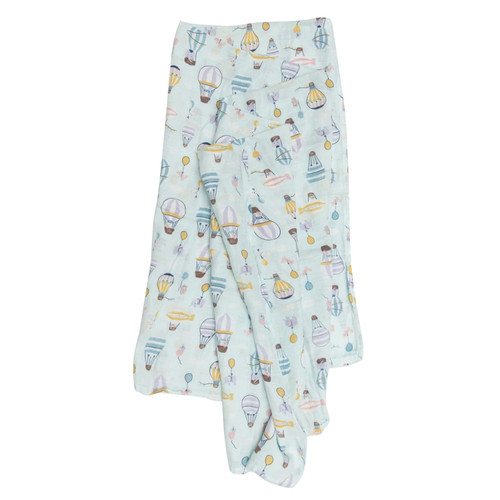 Luxe Muslin Swaddle, Up Up Away