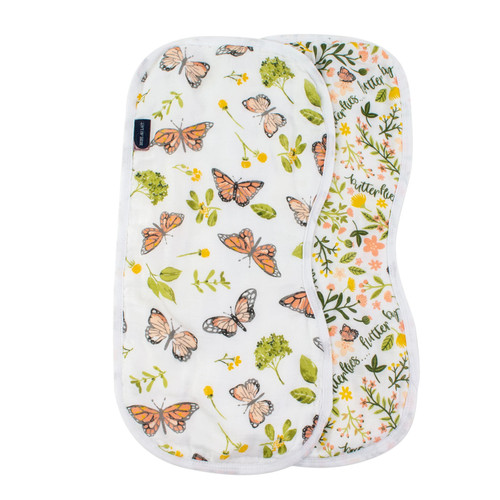 Burp Cloths, Butterfly/Flutterby