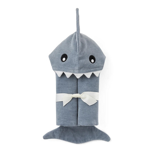 Slate Shark Hooded Bath Towel