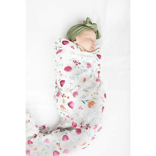 Rosey Bloom Bamboo Swaddle