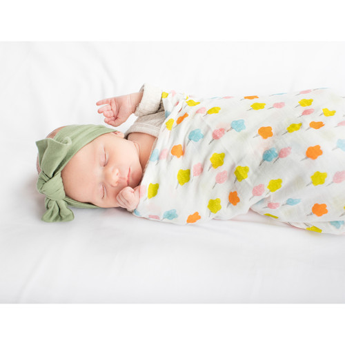 Candy Floss Bamboo Swaddle