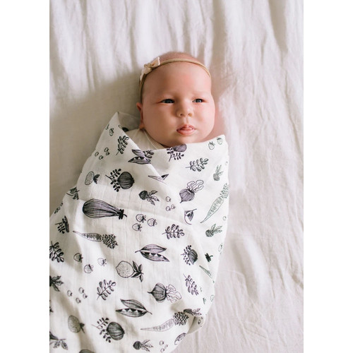 Luxe Muslin Swaddle, Eat Your Veggies