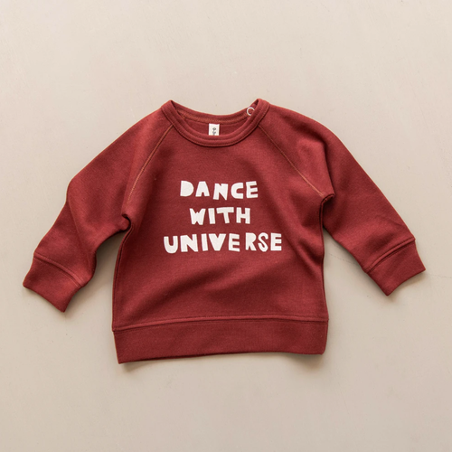 Organic Sweatshirt, Dance With Universe