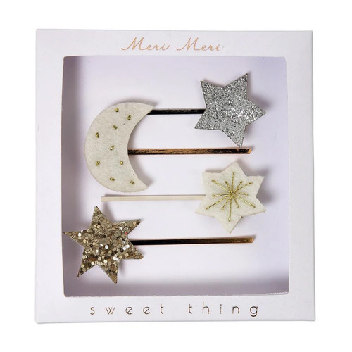 Moon & Stars Hair Slides