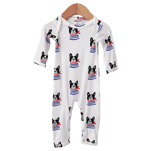 Long Sleeve Romper, Frenchie the Dog