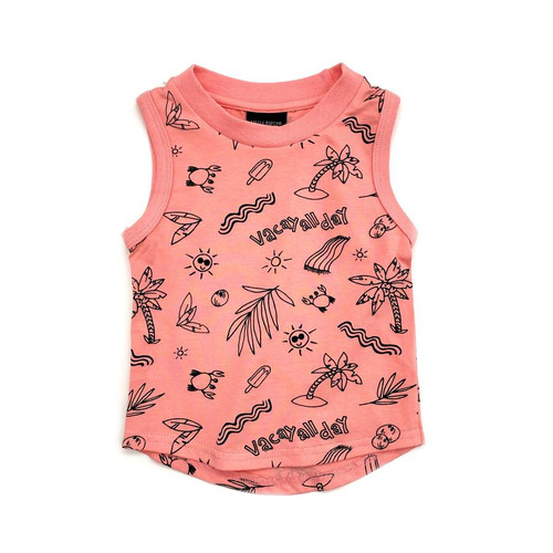 Graphic Tank, Pink Vacay All Day
