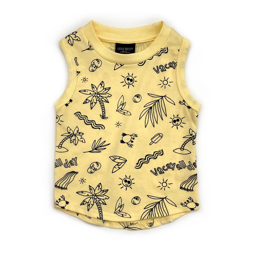 Graphic Tank, Yellow Vacay All Day