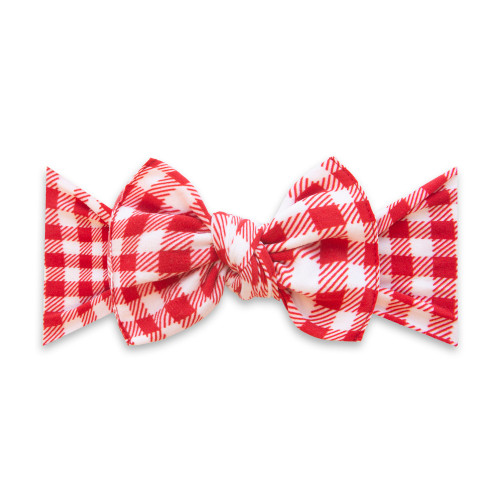 Knot Bow, Cherry Check