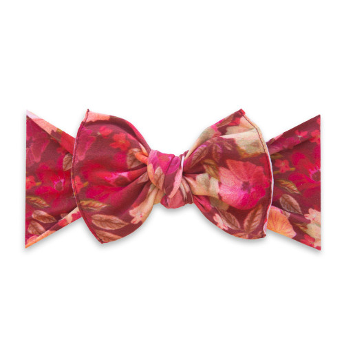 Knot Bow, Burgundy Floral
