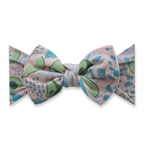 Knot Bow, Avocado Floral