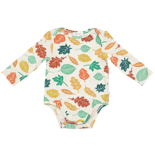 Long Sleeve Bodysuit, Colorful Fall Leaves