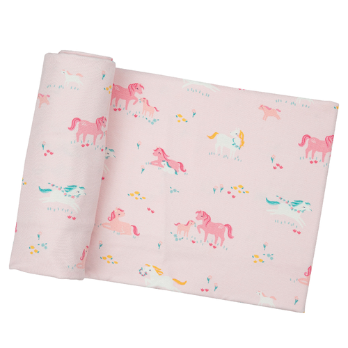 Bamboo Swaddle, Pink Ponies