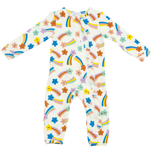 Ruffle Zip Romper, Shooting Stars Multi