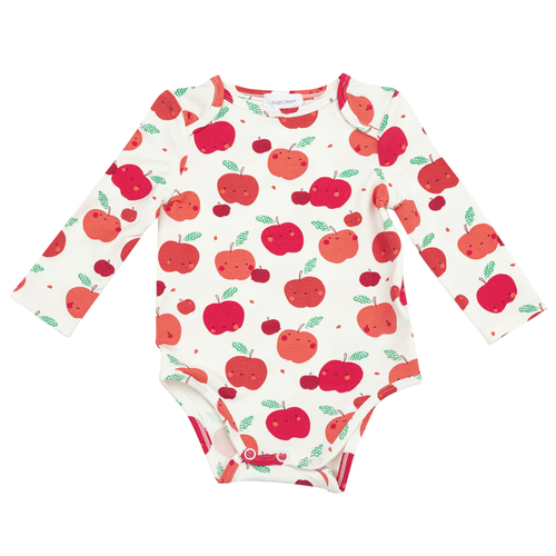 Long Sleeve Bodysuit, Apple Orchard