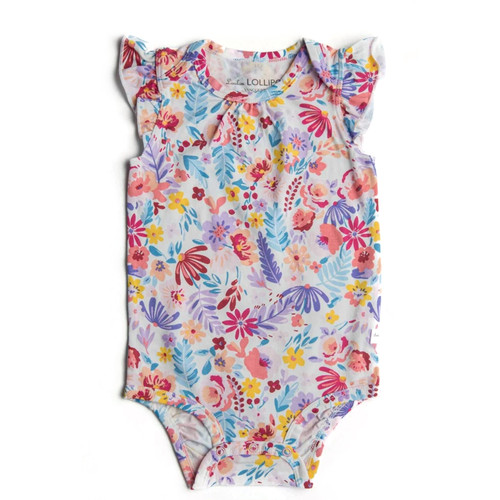 Flutter Bodysuit, Light Field Flowers