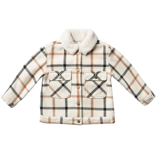 Rylee & Cru Julian Jacket, Natural Plaid