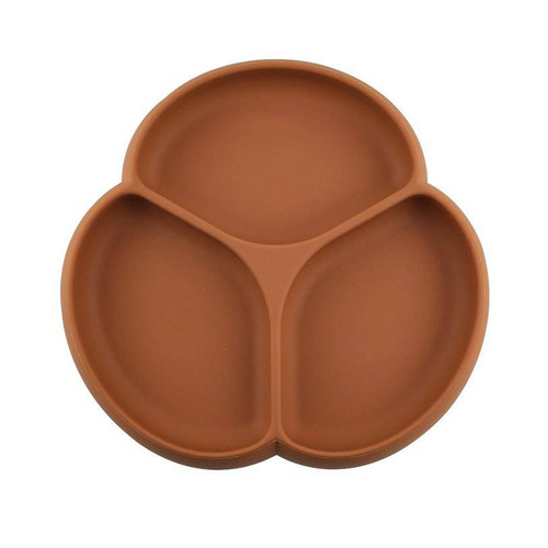 Silicone Suction Plate, Moroccan Clay