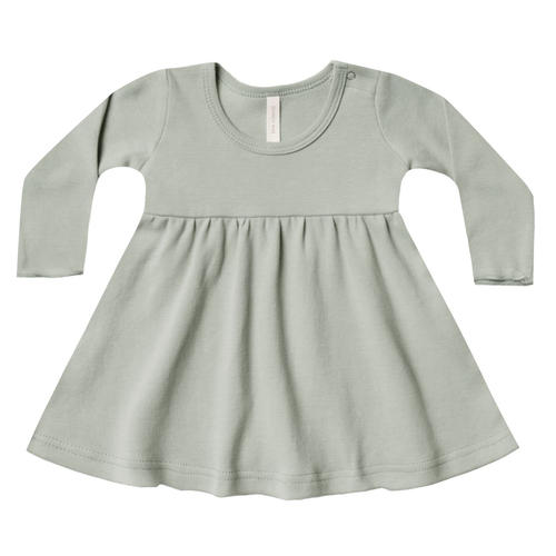 Longsleeve Baby Dress, Sage