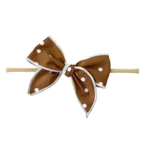 Skinny Edged Bow, Copper Dot
