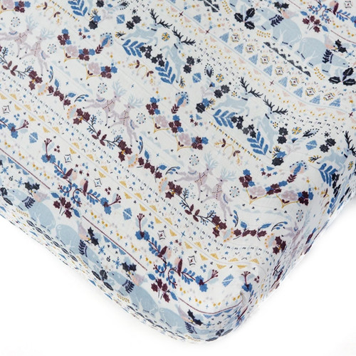 Muslin Crib Sheet, Fair Isle