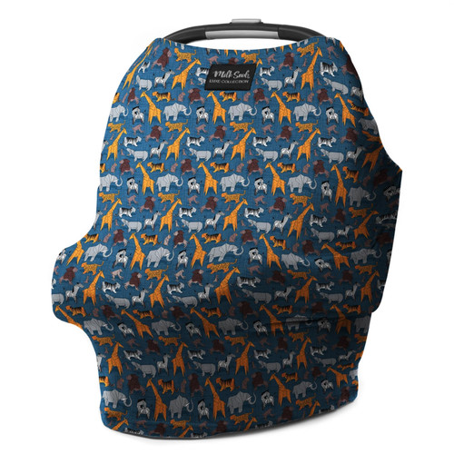 Milk Snob Car Seat Cover, Zoo Babes
