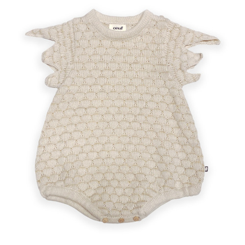 Oeuf Knit Bodysuit, Beige Chicken