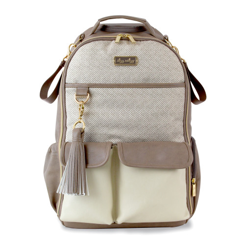 Boss Backpack Diaper Bag, Vanilla Latte