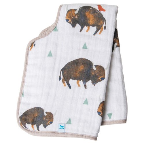 Muslin Burp Cloth, Bison