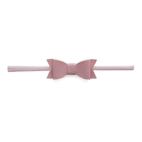 Skinny Leather Bow, Pink