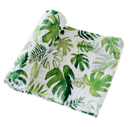 Muslin Swaddle, Tropical Leaf