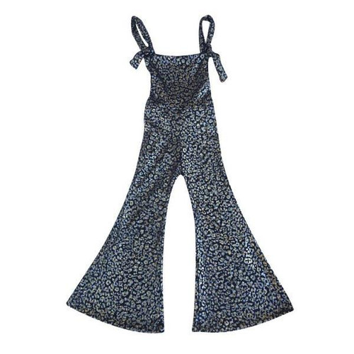 Glam Stretch Knit Overalls