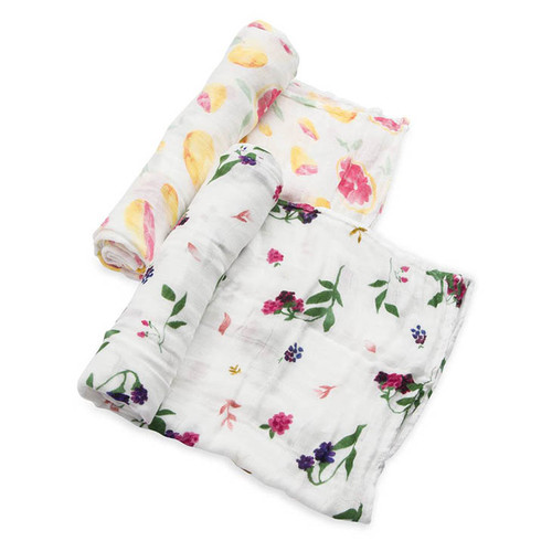 Deluxe Muslin Swaddle Set, Grapefruit Set