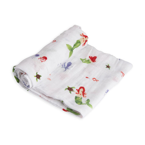 Muslin Swaddle, Mermaid