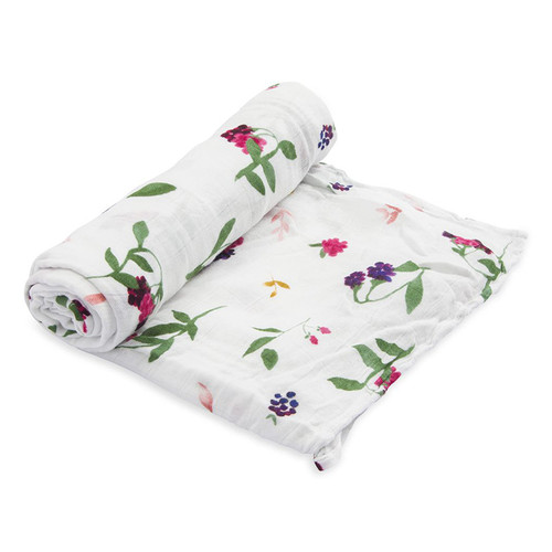 Deluxe Muslin Swaddle, Berry Patch