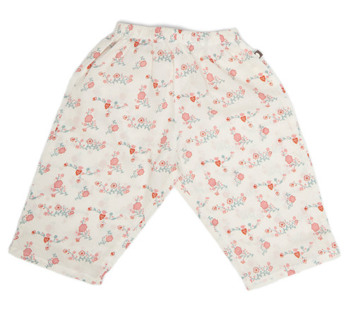 Oeuf Baby Pants, White Flowers