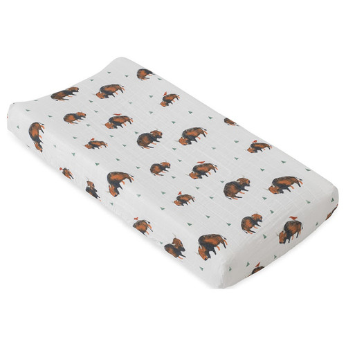 Muslin Changing Pad Cover, Bison